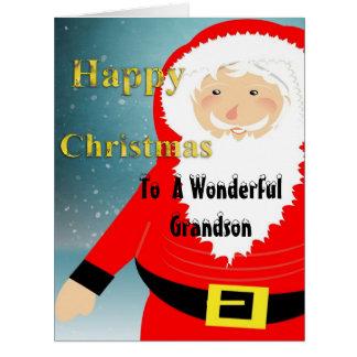 Tarjetas lindas del nieto de las felices Navidad d