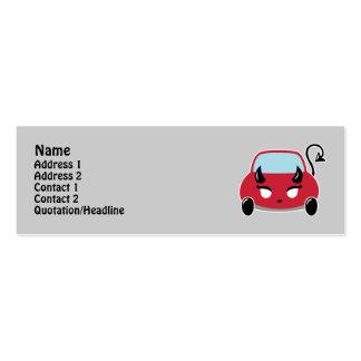 Tarjetas lindas del perfil del coche del diablo plantilla de tarjeta de negocio