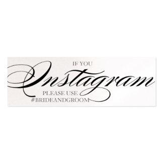Tarjetas magníficas del instagram del boda de la f tarjeta de visita