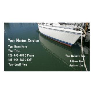 Tarjetas marinas de la empresa de servicios tarjetas de visita