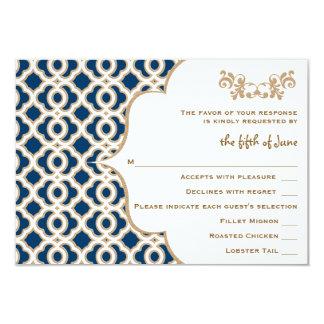 Tarjetas marroquíes de la respuesta del boda de invitación 8,9 x 12,7 cm