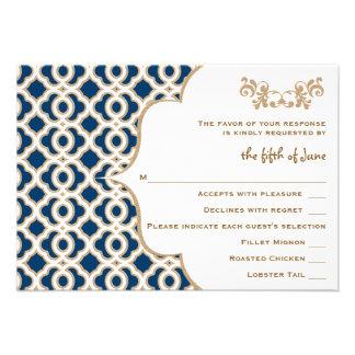 Tarjetas marroquíes de la respuesta del boda de lo anuncio personalizado