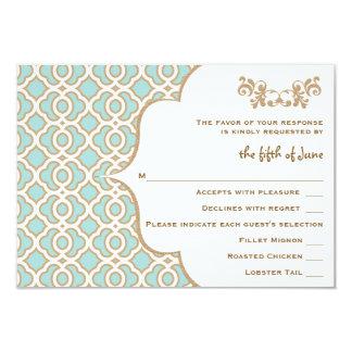 Tarjetas marroquíes de la respuesta del boda del invitación 8,9 x 12,7 cm