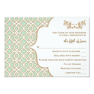 """Tarjetas marroquíes de la respuesta del boda del invitación 3.5"""" x 5"""""""