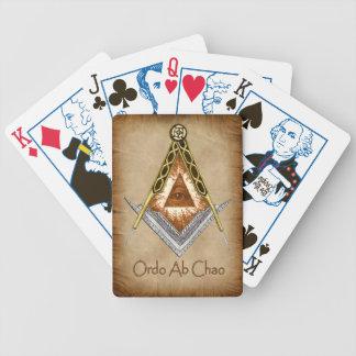 Tarjetas masónicas del juego cartas de juego