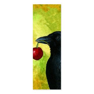 Tarjetas minúsculas de las señales del cuervo del tarjetas de visita mini
