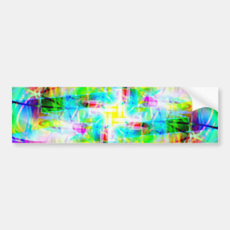Tarjetas místicas etiqueta de parachoque