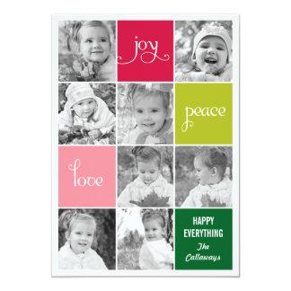 Tarjetas modernas de la foto del día de fiesta del invitación 12,7 x 17,8 cm