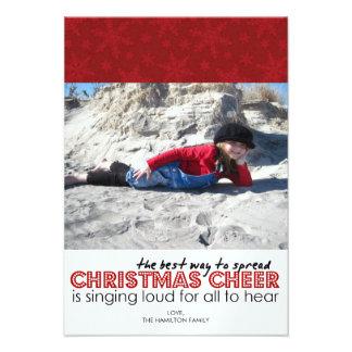 Tarjetas modernas de la foto del navidad anuncios personalizados