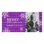 Tarjetas modernas de la foto del navidad tarjetas fotográficas personalizadas