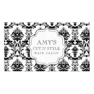 Tarjetas modernas de moda blancas negras del salón tarjetas de visita