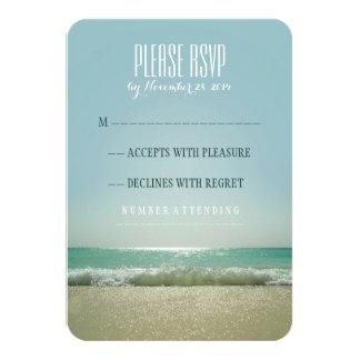 """Tarjetas modernas de RSVP del boda de playa con el Invitación 3.5"""" X 5"""""""