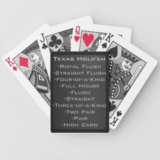 Tarjetas modernas de Tejas Holdem Cartas De Juego