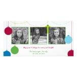 Tarjetas modernas del navidad/del día de fiesta de tarjetas personales