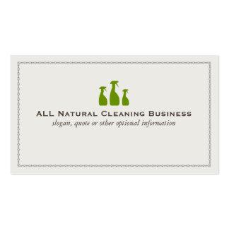 Tarjetas naturales de la empresa de servicios de l tarjetas de visita