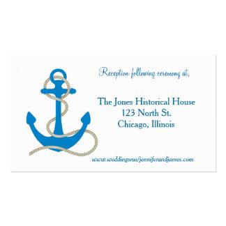 Tarjetas náuticas azules del recinto tarjetas de visita