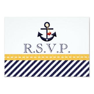 Tarjetas náuticas de la respuesta de RSVP del Invitaciones Personales