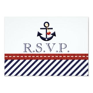 Tarjetas náuticas de la respuesta de RSVP del Invitación 8,9 X 12,7 Cm