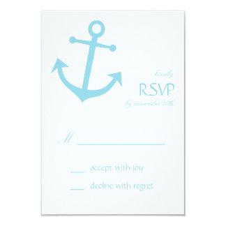 Tarjetas náuticas de RSVP del ancla del barco Invitación Personalizada