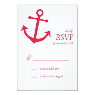 Tarjetas náuticas de RSVP del ancla del barco Invitación 8,9 X 12,7 Cm