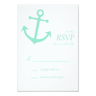 Tarjetas náuticas de RSVP del ancla del barco Invitacion Personalizada