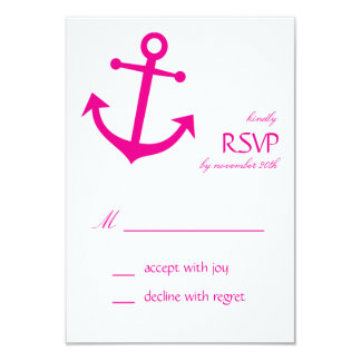 Tarjetas náuticas de RSVP del ancla del barco Comunicado Personalizado