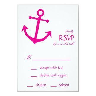 Tarjetas náuticas de RSVP del ancla del barco Anuncios