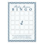 """Tarjetas náuticas del bingo de la fiesta de invitación 3.5"""" x 5"""""""