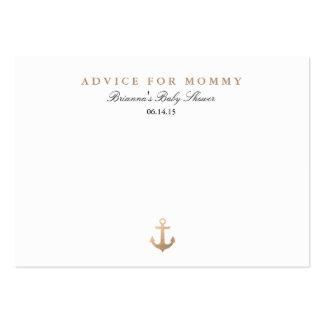 Tarjetas náuticas del consejo de la mamá de la tarjetas de visita grandes