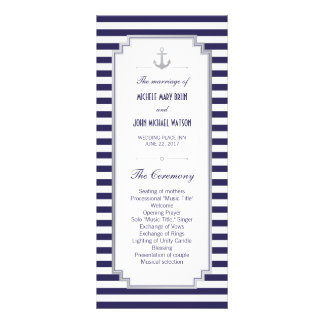 Tarjetas náuticas del estante del programa de tarjeta publicitaria
