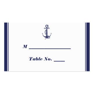 Tarjetas náuticas del lugar del boda de la marina  tarjetas de visita