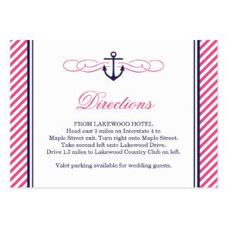 Tarjetas náuticas del parte movible del boda de la tarjetas de visita grandes