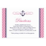 Tarjetas náuticas del parte movible del boda de la plantilla de tarjeta de visita
