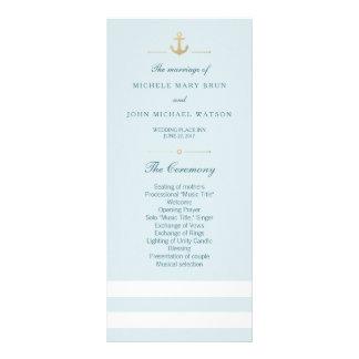 Tarjetas náuticas rayadas blancas del estante del tarjeta publicitaria