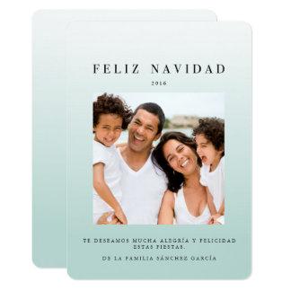 Tarjetas Navideñas de Foto | Ombré Azul Card
