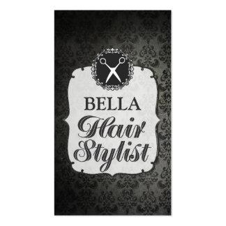 Tarjetas negras de la cita del estilista del papel tarjetas de visita