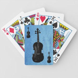 TARJETAS NEGRAS DE VIOLIN-PLAYING BARAJA CARTAS DE POKER