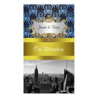 Tarjetas negras del acompañamiento del damasco de tarjetas de visita