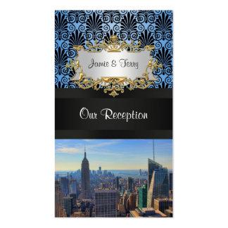 Tarjetas negras del acompañamiento del damasco del tarjetas de visita