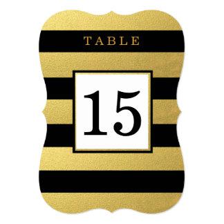 TARJETAS NEGRAS ELEGANTES DEL NÚMERO DE LA TABLA INVITACIÓN 12,7 X 17,8 CM