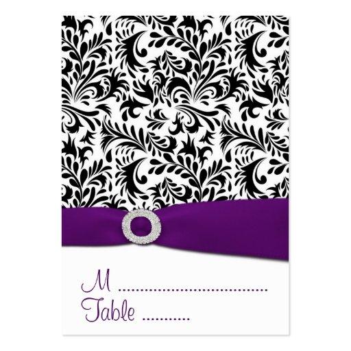 Tarjetas negras, púrpuras del lugar de la tarjetas de visita grandes