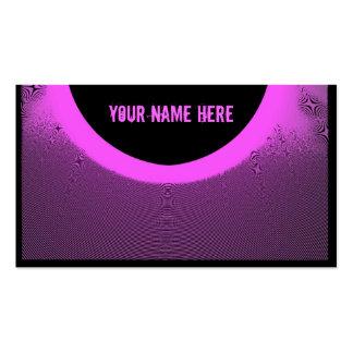 Tarjetas negras rosadas artísticas del plantillas de tarjetas personales