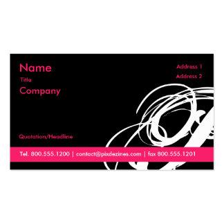 Tarjetas negras y rosadas del perfil de Swoosh… Tarjetas De Visita