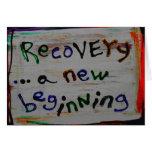 tarjetas nuevas de una recuperación del principio