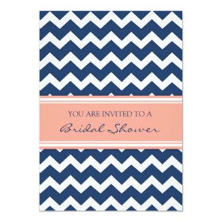 Tarjetas nupciales coralinas azules de la invitación