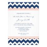 Tarjetas nupciales coralinas azules de la invitaci invitación