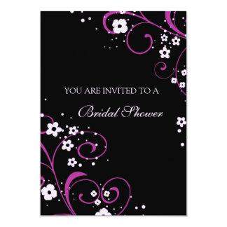 Tarjetas nupciales de la invitación de la ducha invitación 12,7 x 17,8 cm