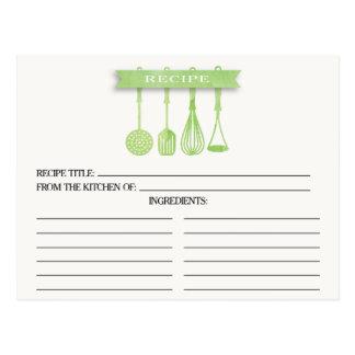 Tarjetas nupciales de la receta de la ducha de los tarjetas postales