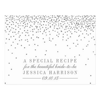Tarjetas nupciales de la receta de la ducha del postales