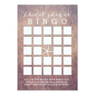 Tarjetas nupciales del bingo de la ducha de las invitación 8,9 x 12,7 cm